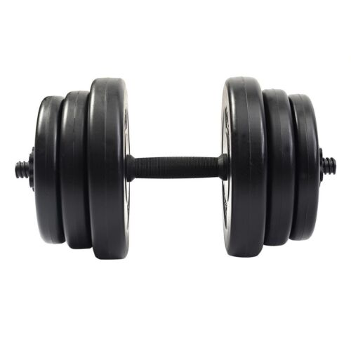 Adjustable Workout Weights: Pro 44LB Dumbbell Adjustable Cap Gym Barbell Plates Body