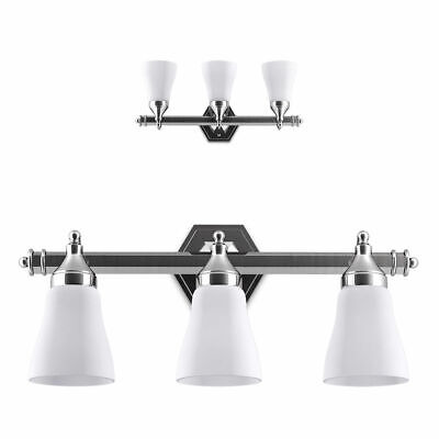 "24"" 3-Light LED Vanity Fixture Polished Chrome Wall Sconces"