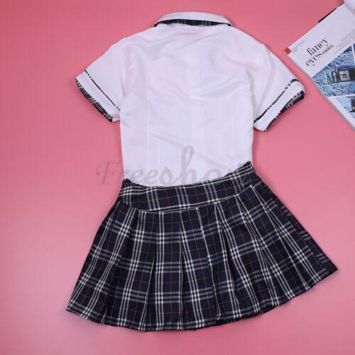 Womens Lingerie School Girl Cosplay Costume Fancy Uniform Tops