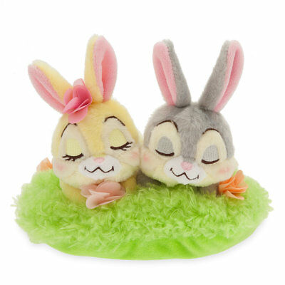 Disney Store Authentic Thumper & Miss Bunny Easter Basket Mini Plush Set - Disney Thumper