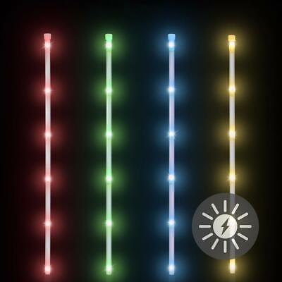 tstäbe 70 cm bunt blau grün rot gelb mehrfarbig Solarstab (4 Leuchtstäbe)