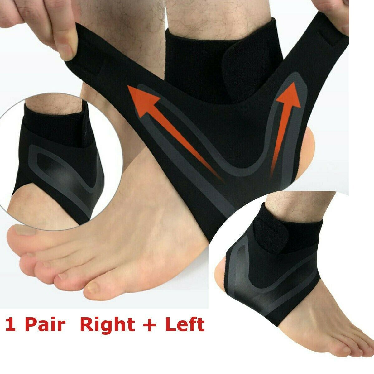 Ankle Brace Arthritis Support Compression Foot Arch Tendon N