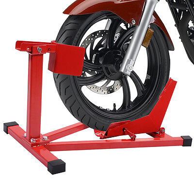 Motorcycle Front Wheel Chock Stand Motorbike Bike Scooter Paddock Garage 16-21""