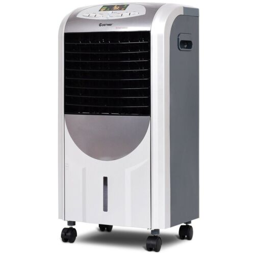 Portable Air Cooler Fan Evaporative Cooling Humidifier And Heater Remote Control