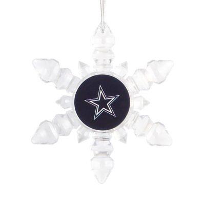 Dallas Cowboys Christmas Tree Holiday Ornament New - Light Up Snowflake (Dallas Cowboy Ornaments)