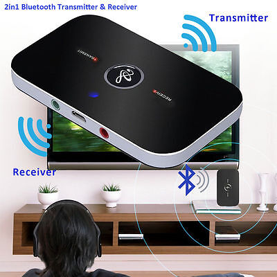 2in1 Wireless Bluetooth Transmitter & Receiver A2DP Home Stereo TV Audio Adapter