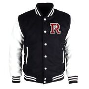 College Jacket Leather Wool