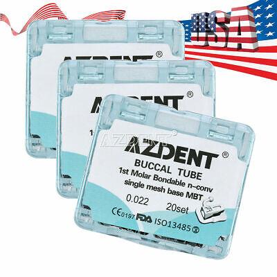 3 X Azdent Dental Orthodontic Bonding Single Buccal Tubes 1st Molar Mbt.022