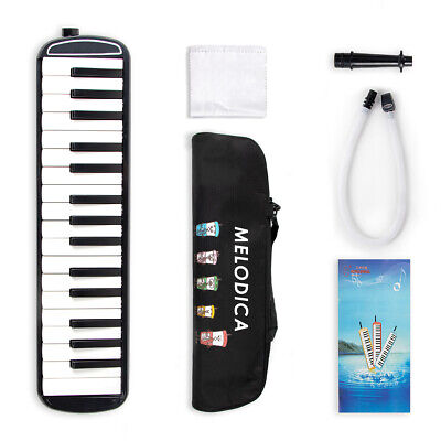 Kmise Melodica 32 Piano Keys Pianica Musical Instrument with Carrying Bag Black