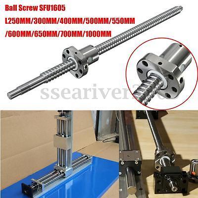 Ball Screw C7/SFU1605 L250/300/400/500/550/600/650/700/1000MM w/ Single Ballnut