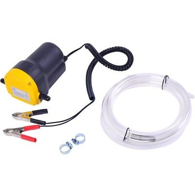 12vlt Oil Diesel Electric Transfer Pump Fluid Extractor For Carmotorbike