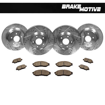 FrontRear Drill Slot Brake Rotors  Ceramic Pads For Infiniti EX35 G35 G37 350Z