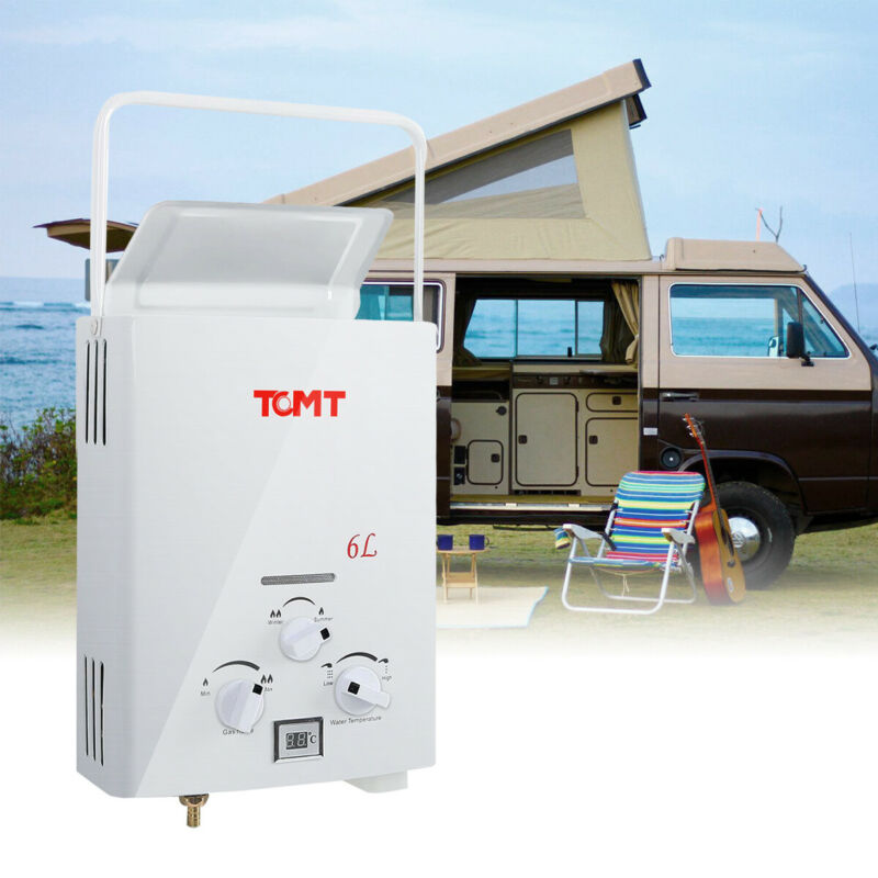 TC-Home Portable 6L LPG 1.6 GPM Propane Gas Tankless Outdoor