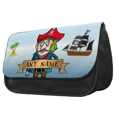 Personalised Salty Pirates Pencil Case Kids School Boys Gift Idea Pirate Ships - Pirate Makeup Ideas