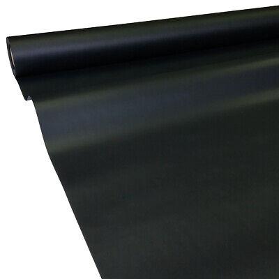 0,44€/m² 50m x 1,30m schwarz JUNOPAX Papiertischdecke Einweg Tischtuch Rolle ()