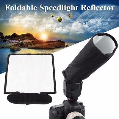 Foldable Speedlite Reflector Snoot Flash Softbox Diffuser Bender Beam Universal