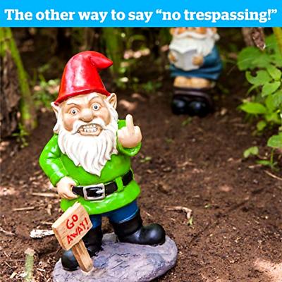 Go Away Garden Gnome Funny Lawn
