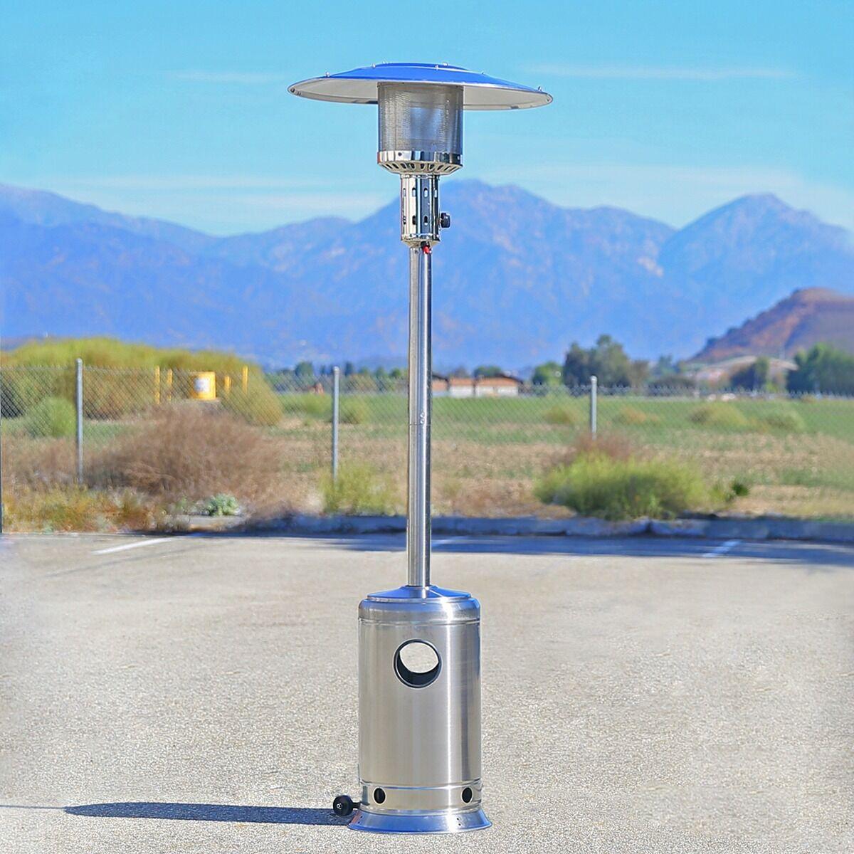 Outdoor Gas Lamp Repair Near Me: Garden Outdoor Patio Heater Propane Standing Stainless