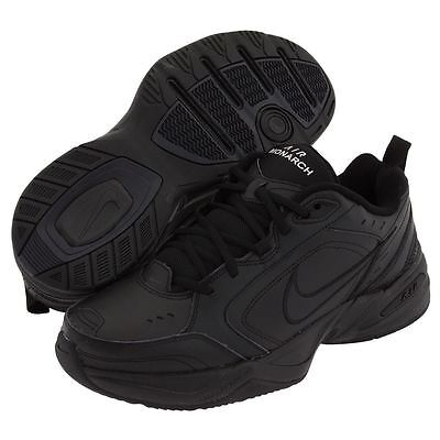 (Nike AIR MONARCH IV Mens Black 001 Comfort Lace Up Running Training Shoes)