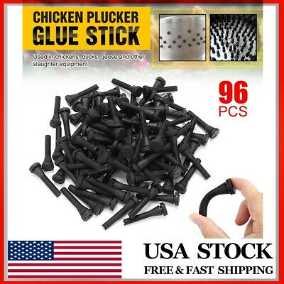 96pcs Chicken Plucker Picker Poultry Fingers Duck Goose Hen Plucking Sticks Us