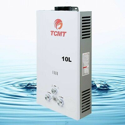 10L 2.6 GPM LPG Gas Propane Instant Tankless Hot Water Heater Boiler Bath