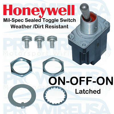 Honeywell Sealed MilSpec ON-OFF-ON Toggle Switch MS24523-21 1TL1-1 Nascar Switch