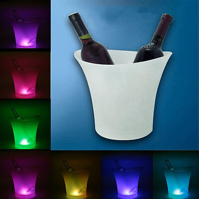 7 Colors LED Light Ice Bucket Champagne Wine Drinks Beer Ice Cooler Bar Party 5L (Party Buckets)