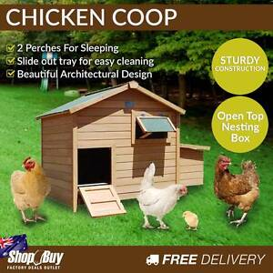 Free Delivery: Deluxe Wooden Chicken Coop Hen House Rabbit Hutch Box Hill Whitehorse Area Preview