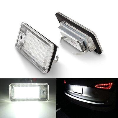 For Audi A6 C6 S6 A4 S4 B6 B7 A8 S8 A3 18 LED License Number Plate Bulbs Light