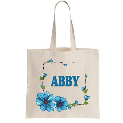 Abby Personalised Tote Bag Shopper Ladies Any Name Gift Birthday Leaving Girls