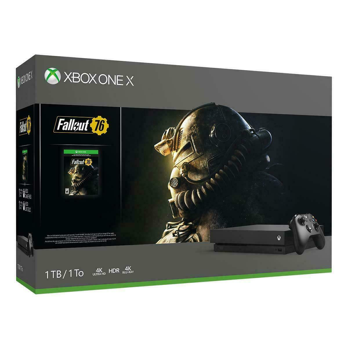 Xbox One X 1TB 4K Ultra HD Blu-ray Console with Fallout 76 B