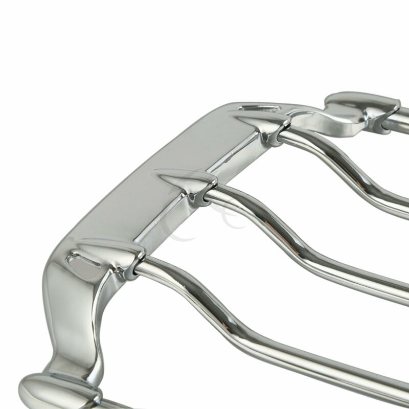 New Two Up Air Wing Chrome Luggage Rack For Harley Fat Boy
