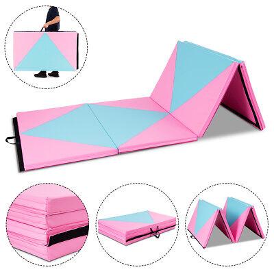 "4'x10'x2"" Gymnastics Mat Folding Portable Exercise Aerobics Fitness Exercise Gym"