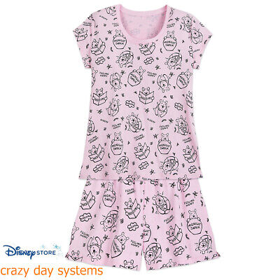 DISNEY Store Winnie the Pooh Pajama Set T-Shirt  Shorts Size M, L, XL, 2XL - Pjs Store