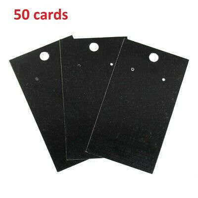 50 Black Jewelry Earring Display Cards By Jgfinds Blank Paper