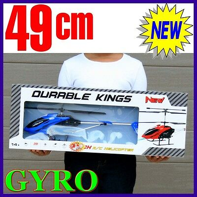Remote Control Metal Frame Helicopter 3.5CH BIG not mini xMas Gift Blue RC GYRO
