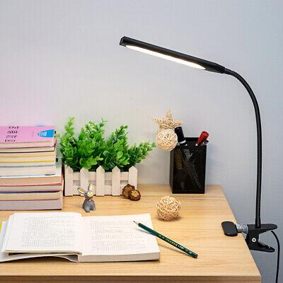 LED USB Clip-on Table Desk Lamp Flexible 3 Mode Reading Dimming Night Light