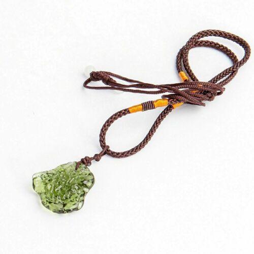Moldavite - Natural Raw Moldavite Pendant - Protection Necklace