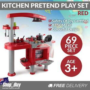 Free Delivery: 69Pcs Pretend Children Mini Kitchen Kids Play Set Moorebank Liverpool Area Preview