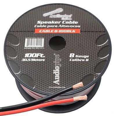 8 Gauge Speaker Wire 100' ft Red/Black Car Audio Home Subwoofer Amplifier (Car Subwoofer Home Audio)