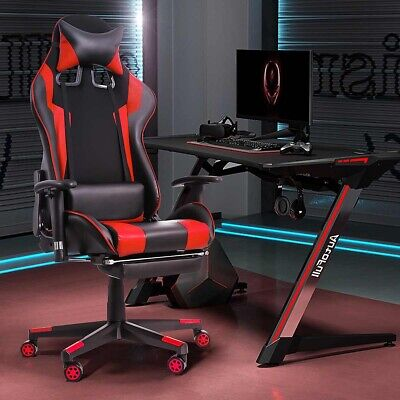 Gaming Chair Racing Computer Leather High Back Recliner Office Desk Seat