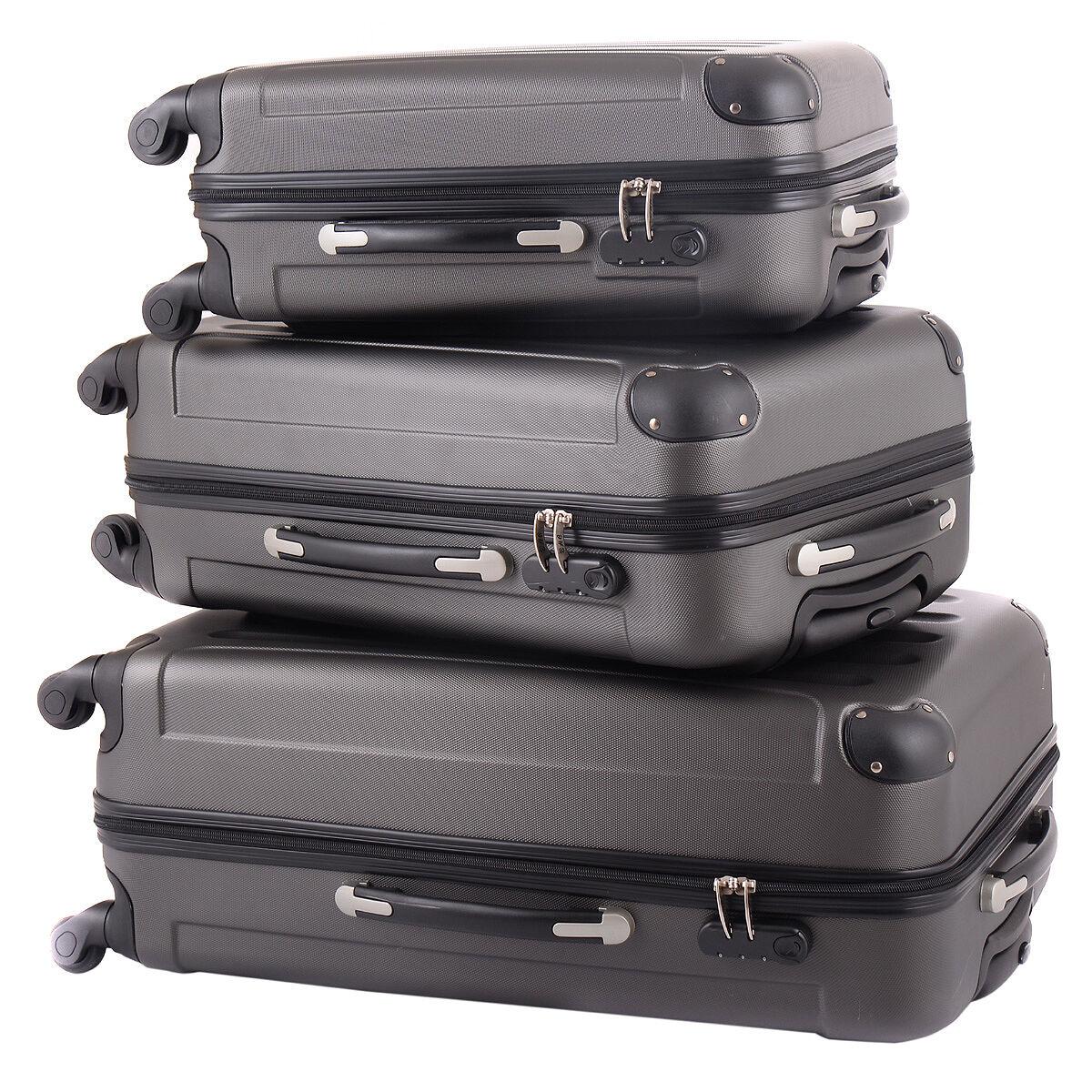 Купить BHC -  BHC 3 Pcs Luggage Coded Lock Travel Set Bag ABS+PC Trolley Suitcase Gray New