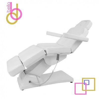 WHITE OPTIMA 3 Motor Electric Facial Bed Chair & Body Treatment Table Salon Spa