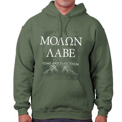 - Molon Labe USA Come And Take Them 2nd Amendment Bear Arms Hooded Sweatshirt