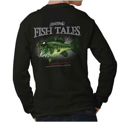 Largemouth Zombie Bass Funny Outdoor Nature Fisherman Gift Long Sleeve -