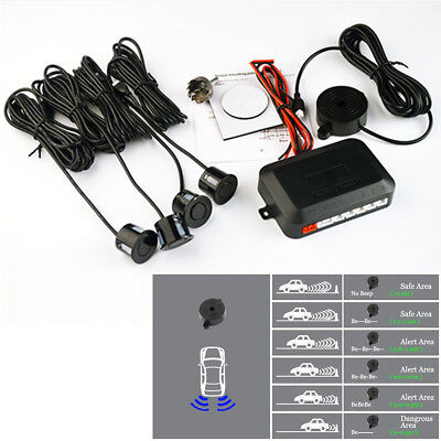 Universal 4x 22mm Black Car Auto Parking Parktronic Original Flat Sensors System