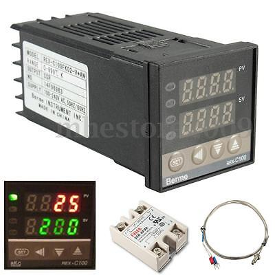 Digital 220v Ac Pid Rex-c100 Temperature Controller Max.40a Ssr K Thermocouple