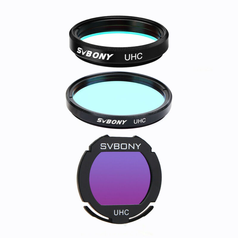 """1.25""""/2"""" Ultra High Contrast UHC Telescope Filters for Deep Sky Astrophotography"""