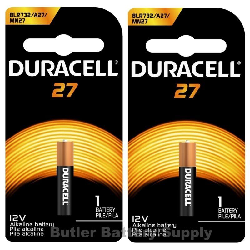 2 x 27 Duracell 12V Alkaline Batteries (A27, MN27, GP27A, 8LR732, 27A, L828)