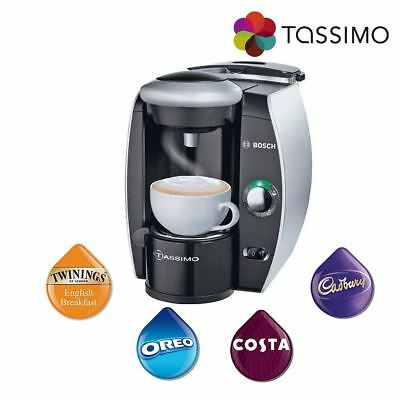 Tassimo TAS4011GB Fidelia Hot Drinks Coffee Machine Silver 1300W 2L Bosch